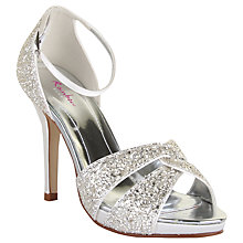 Buy Rainbow Club Charlotte Glitter Stiletto Sandals, Silver Online at johnlewis.com