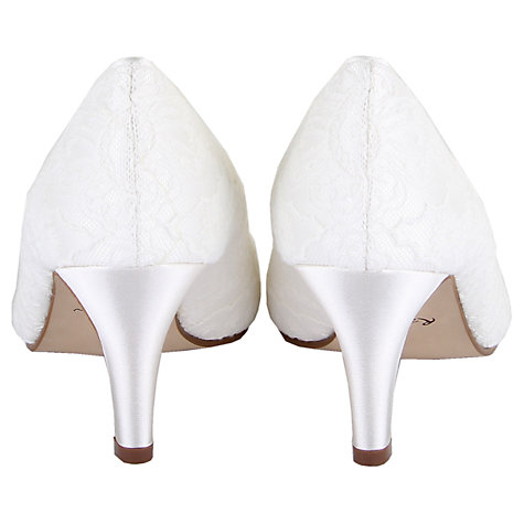 Buy Rainbow Club Martha Peep Toe Court Shoes, Ivory Online at johnlewis.com