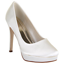 Buy Rainbow Club Eliza Platform Stiletto Court Shoes, Ivory Online at johnlewis.com