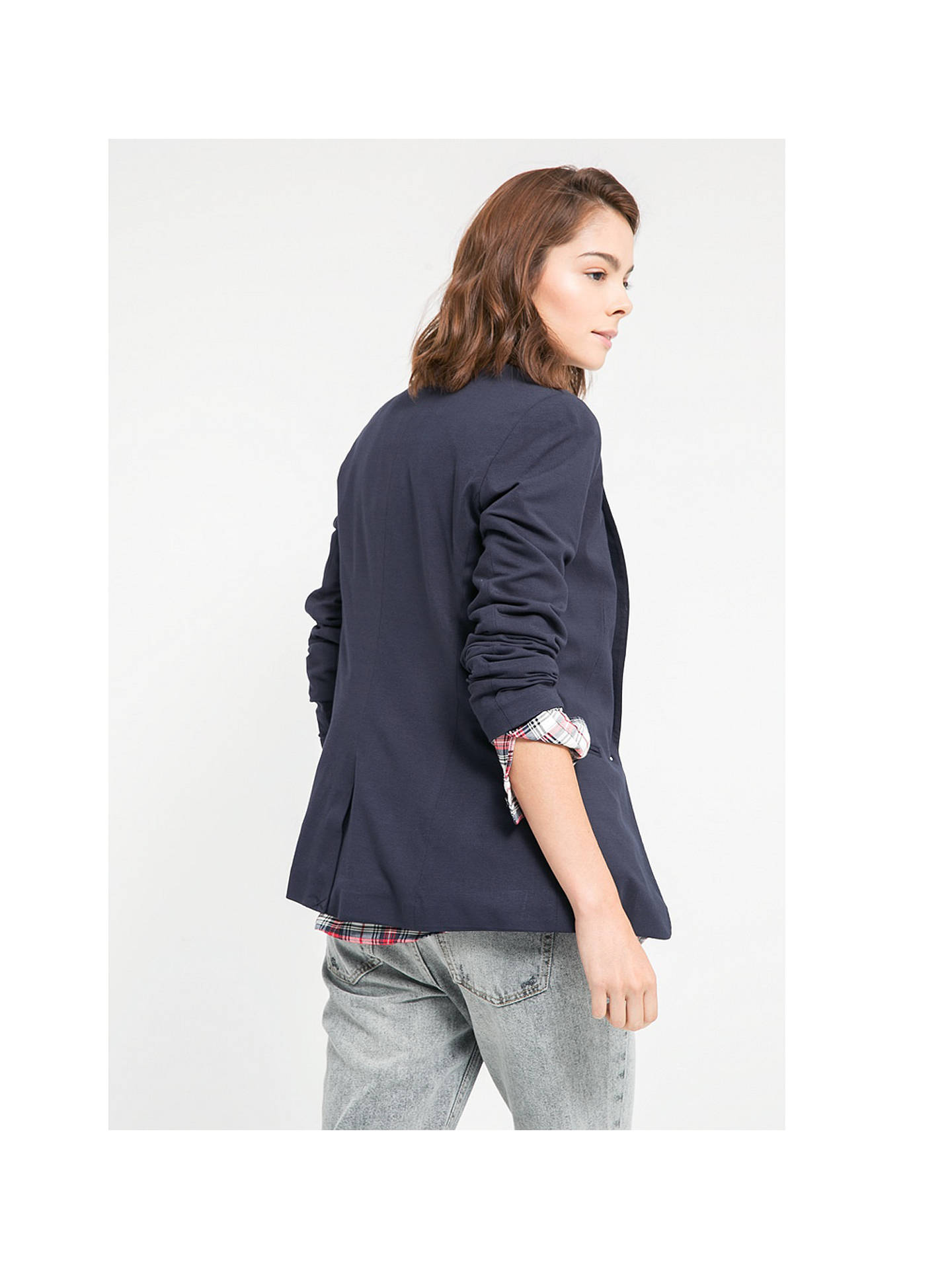 Buy Mango Essential Blazer, Navy, XS Online at johnlewis.com