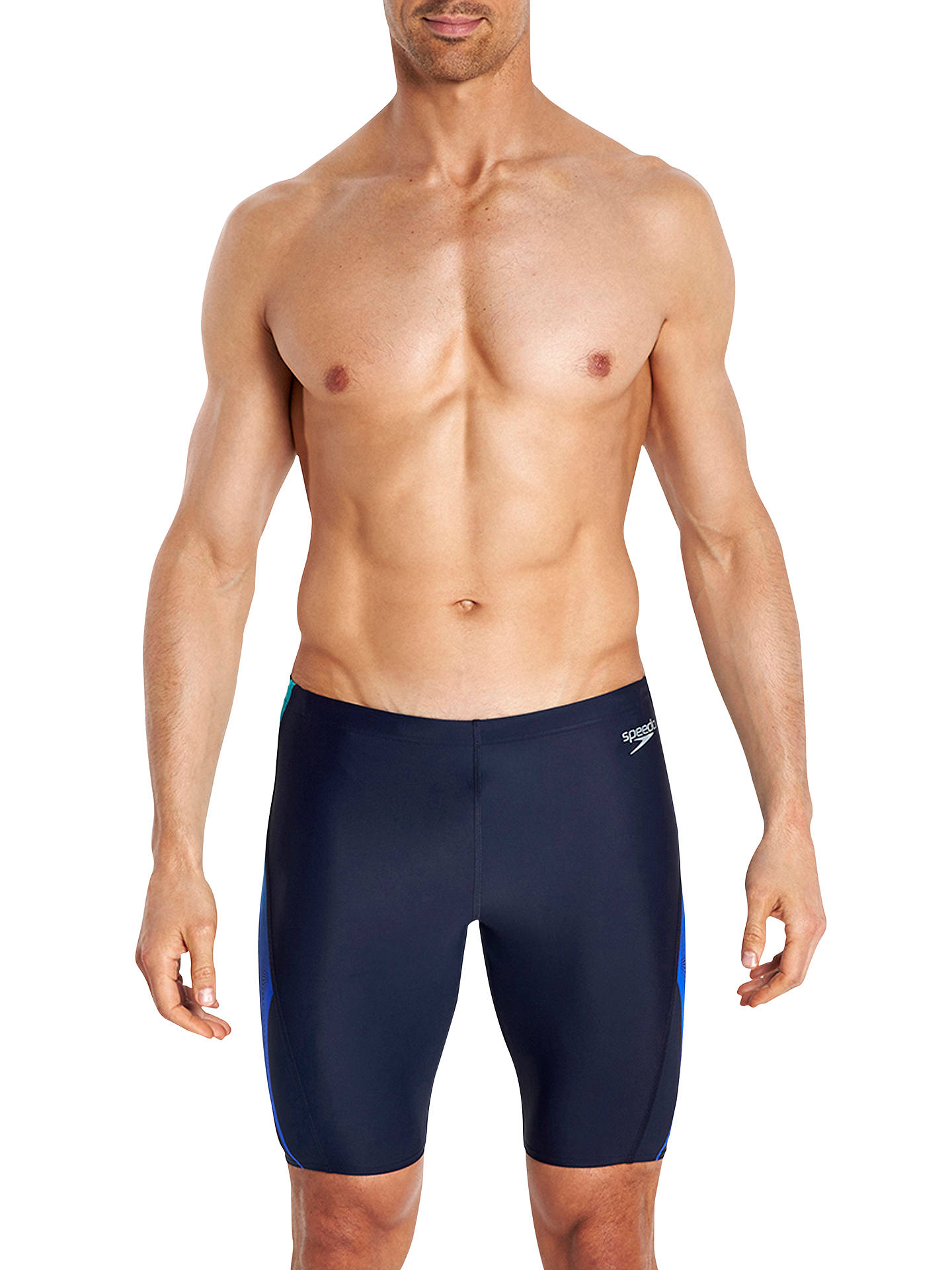 1b987336305bb Speedo Placement Curve Panel Endurance Jammer Swim Shorts at John ...
