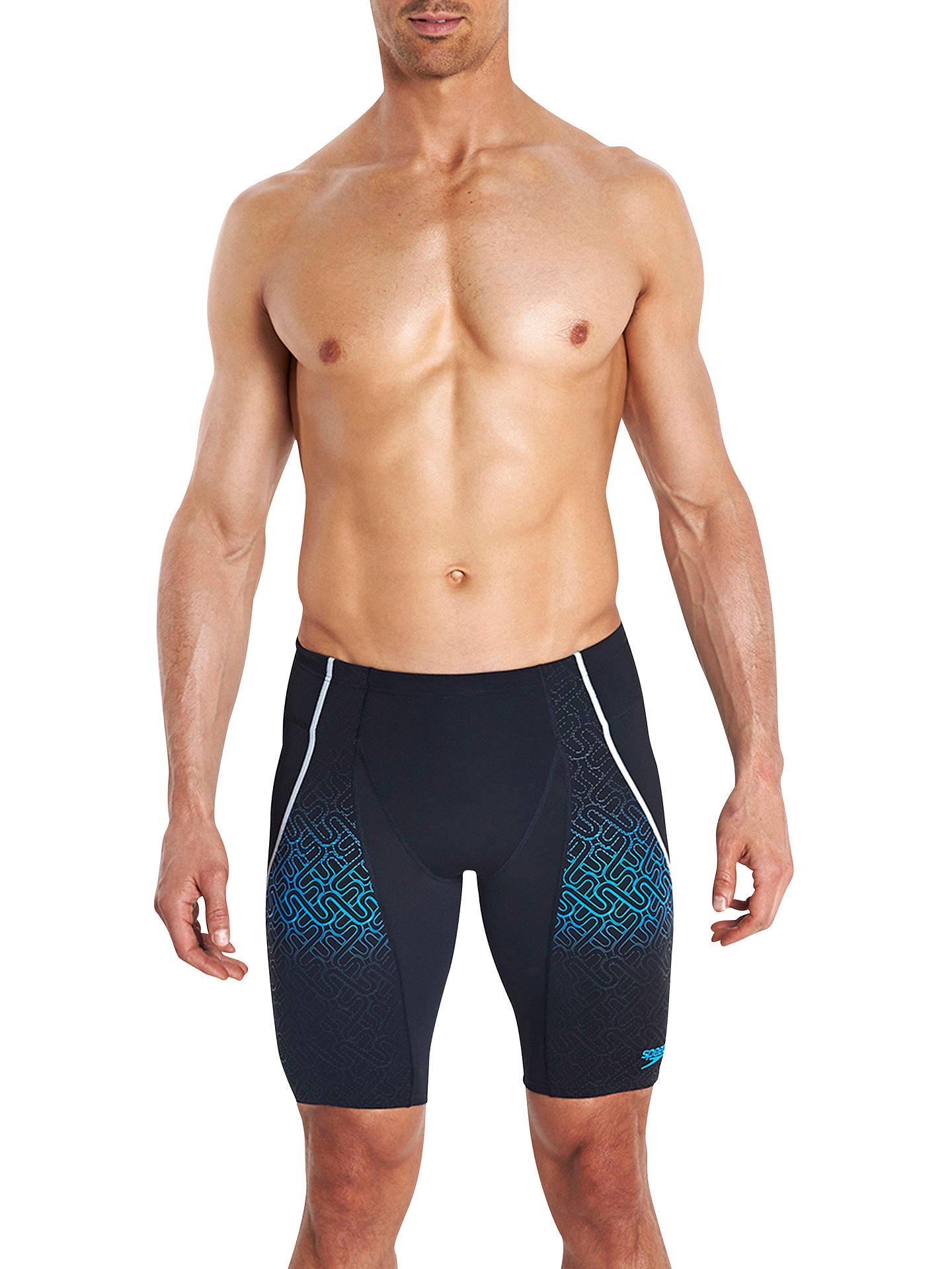 d2d151615c Buy Speedo Fit Pinnacle V Endurance Jammer Swim Shorts, Black/Japan Blue,  30 ...