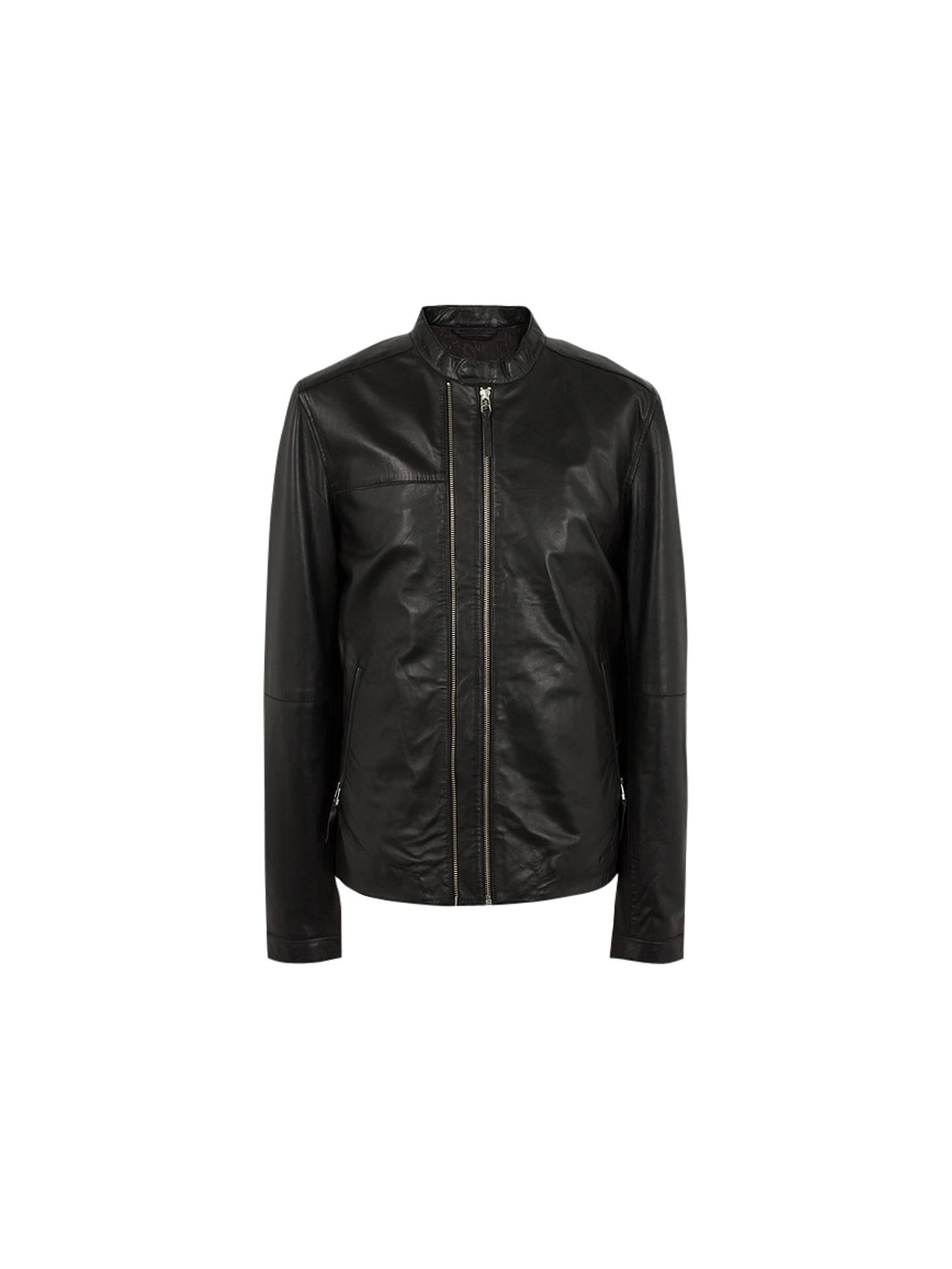 BuyPretty Green Addison Leather Biker Jacket 5588568b72d4