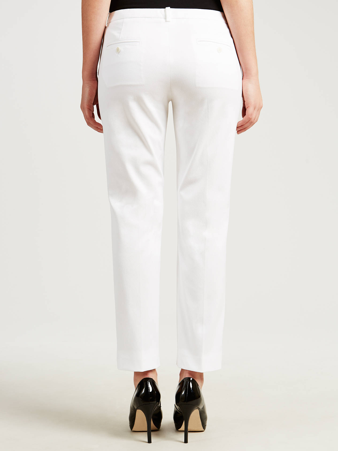 Buy Weekend by MaxMara Ankle Trousers, White, 8 Online at johnlewis.com