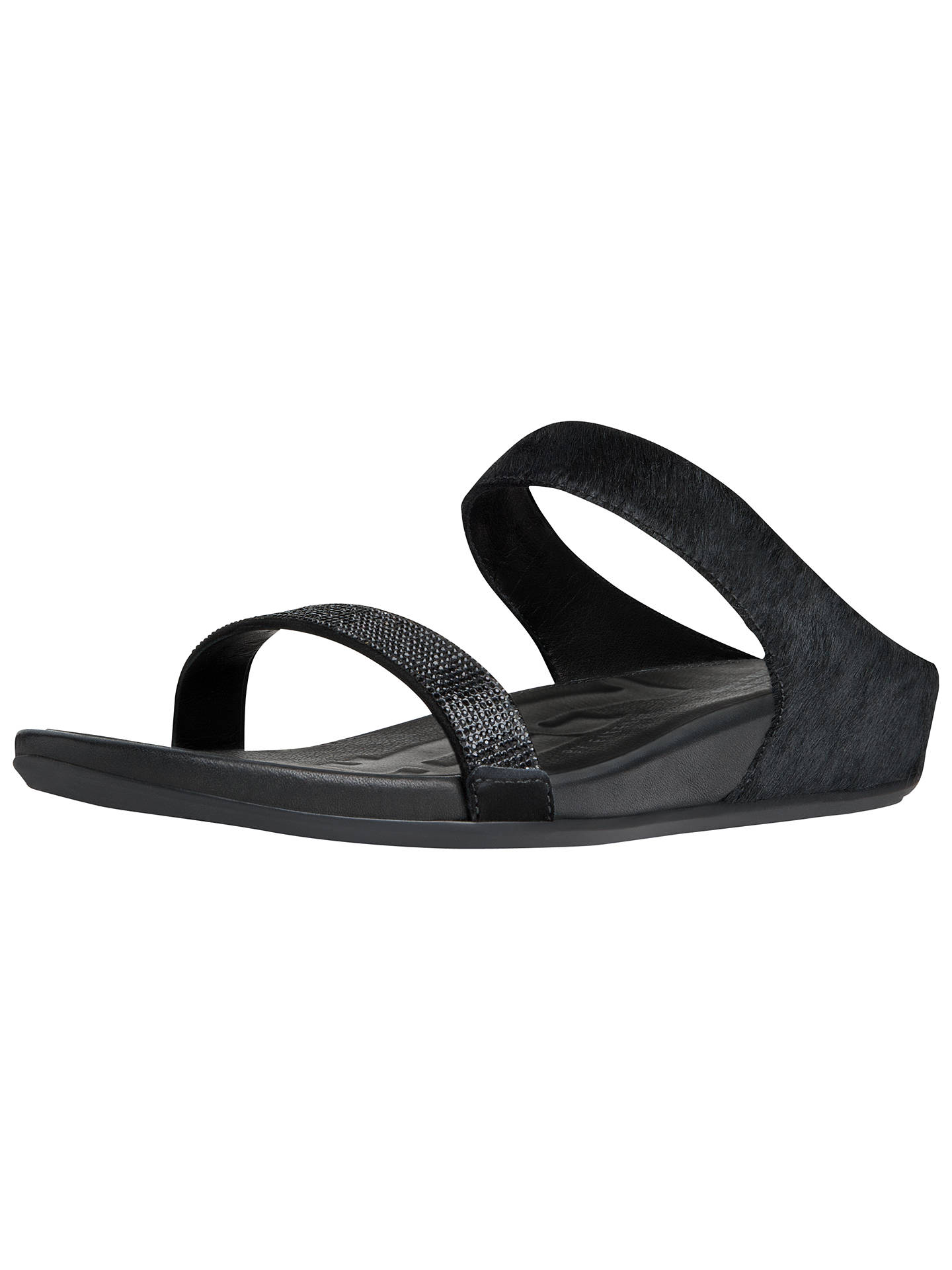 c5d4633d9bb Buy Fitflop Banda Crystal Wedge Heeled Leather Sandals