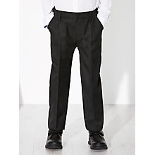 Buy John Lewis Boys' Easy Care Adjustable Waist Generous Fit School Trousers Online at johnlewis.com