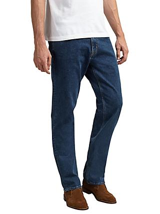 8b98d2d2b2 GANT 11 oz Comfort Regular Straight Jeans, Mid Blue