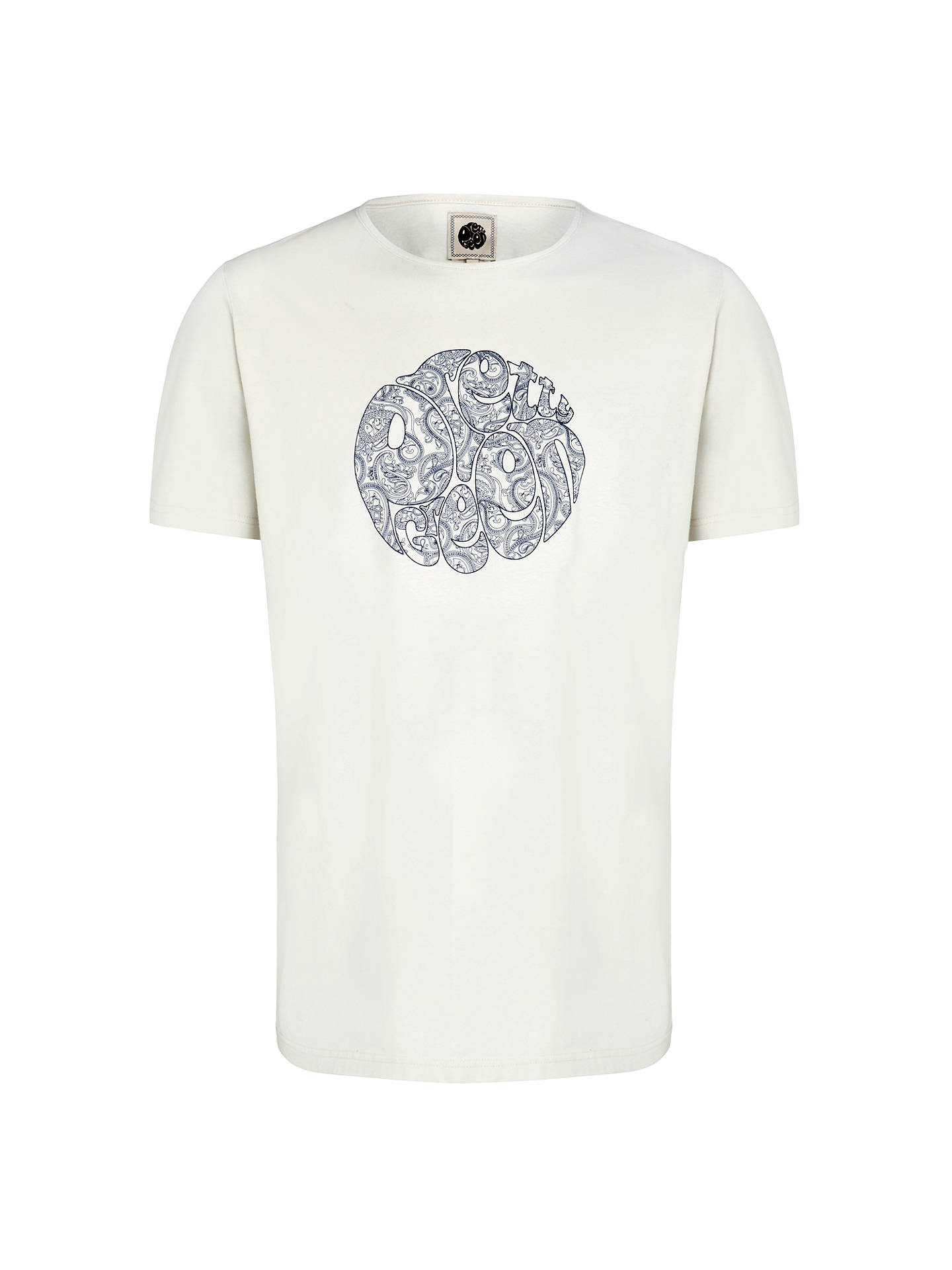 587122f5482 Pretty Green Linear Paisley Logo T-Shirt at John Lewis   Partners