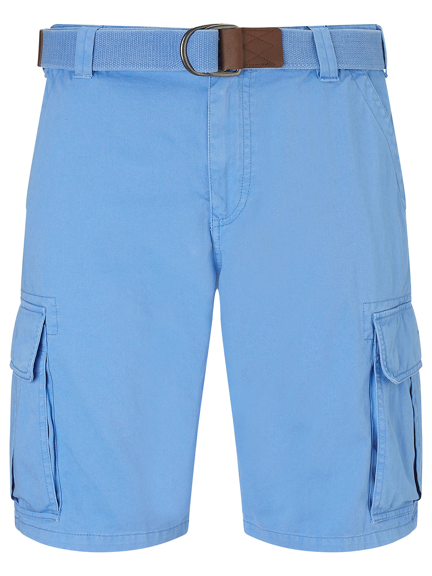 4335d2108d Buy Gant Belted Cotton Cargo Shorts, Pacific, 32 Online at johnlewis.com ...
