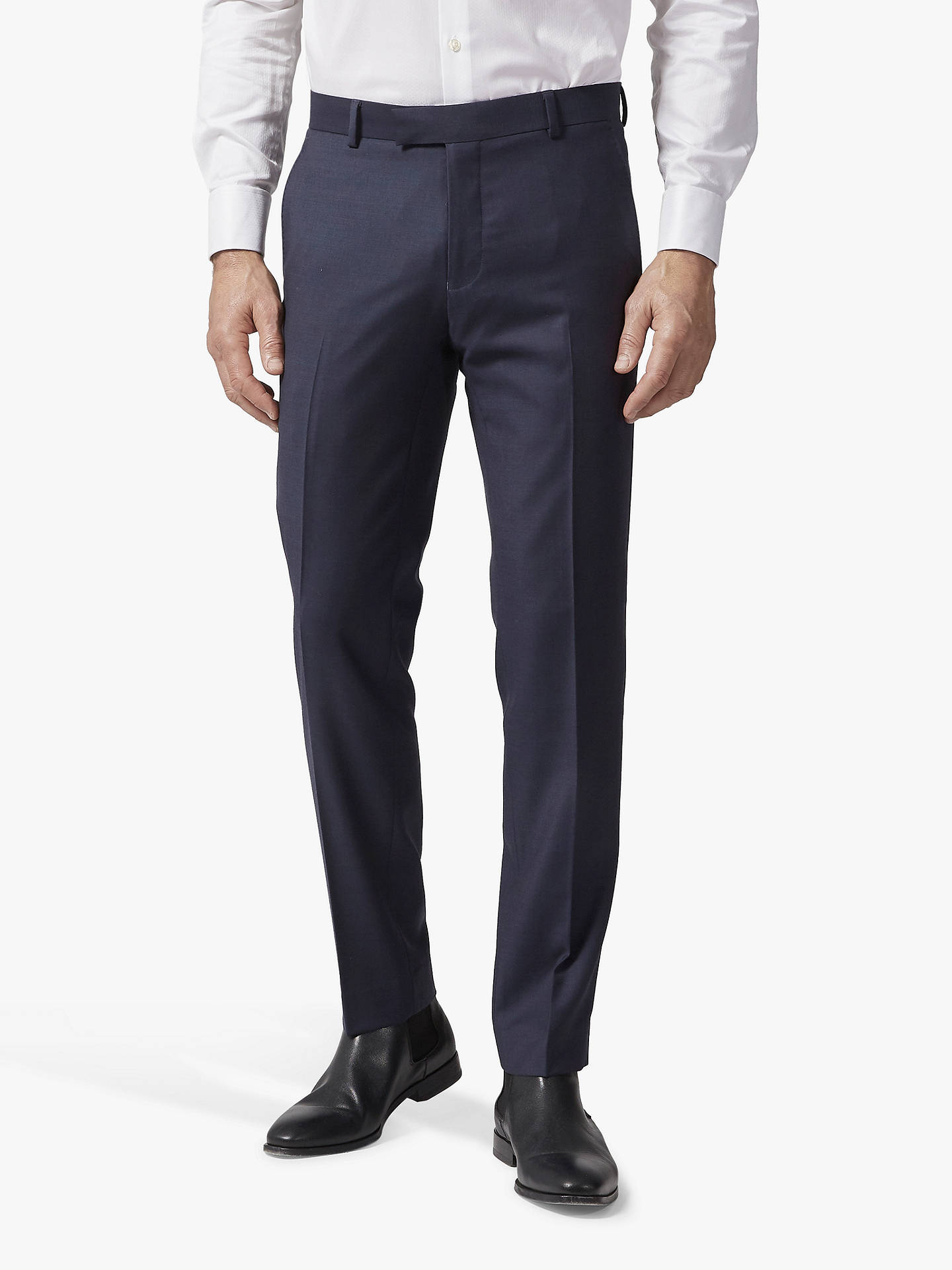 BuyRichard James Mayfair Pick and Pick Suit Trousers, Navy, 32S Online at johnlewis.com
