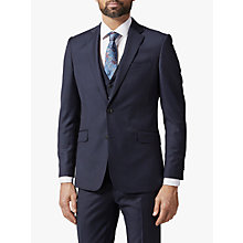 Buy Richard James Mayfair Pick and Pick Suit Jacket, Navy Online at johnlewis.com
