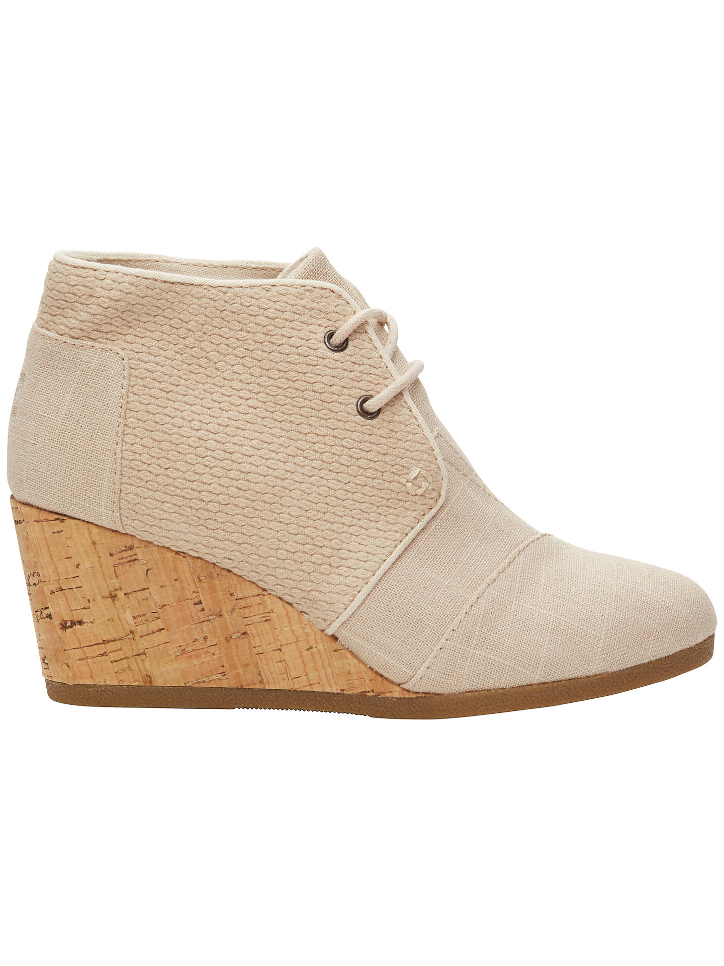 67c2005a9ee Buy TOMS Desert Canvas Wedge Heeled Ankle Boot