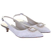 Buy Rainbow Couture Trista Floral Printed Slingback Shoes, Ivory Online at johnlewis.com