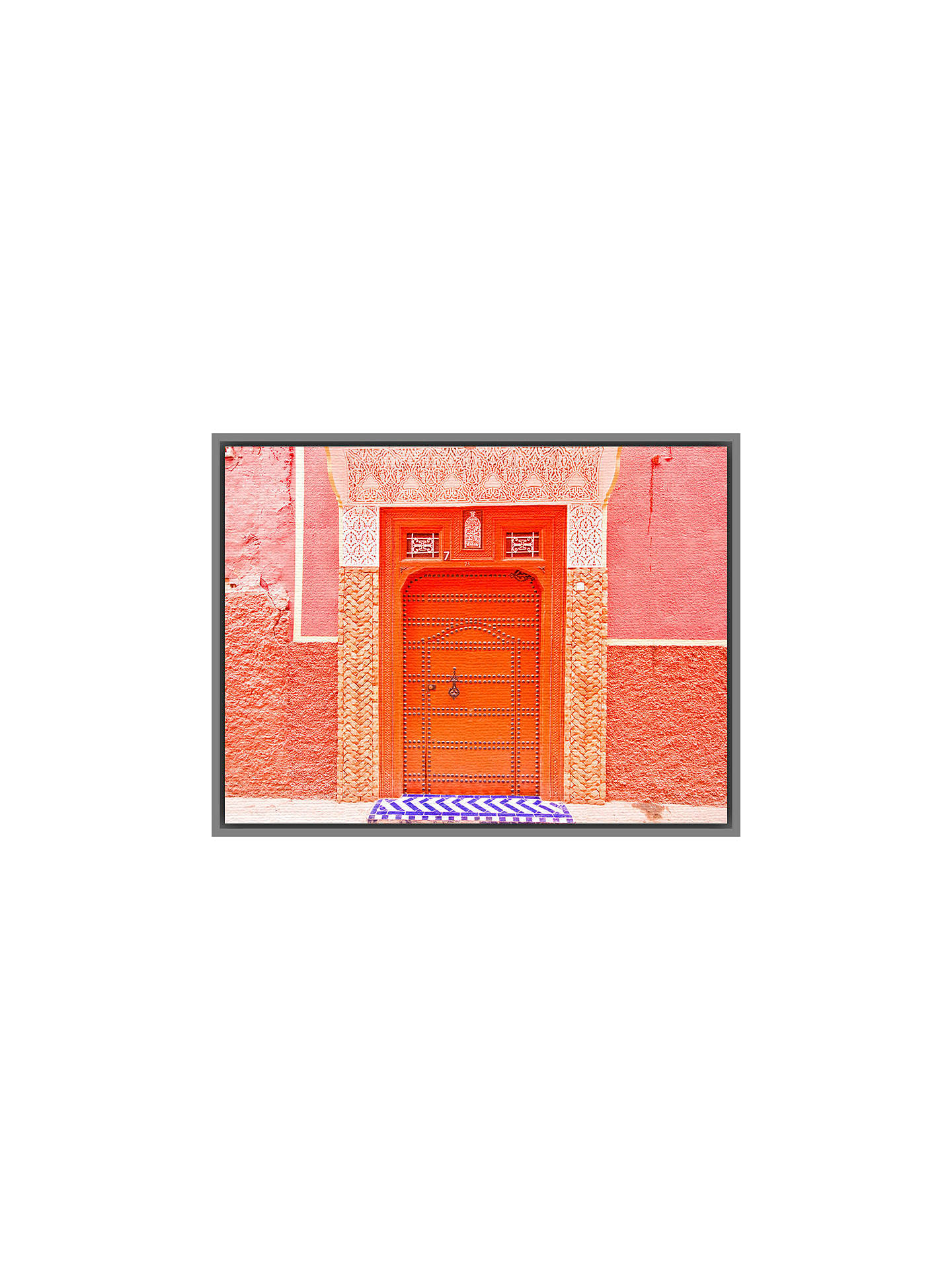 BuyKeri Bevan - The Pink City, Grey Framed Canvas, 40 x 50cm Online at johnlewis.com