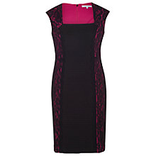 Buy Chesca Lace Jersey Dress, Black/Fuchsia Online at johnlewis.com