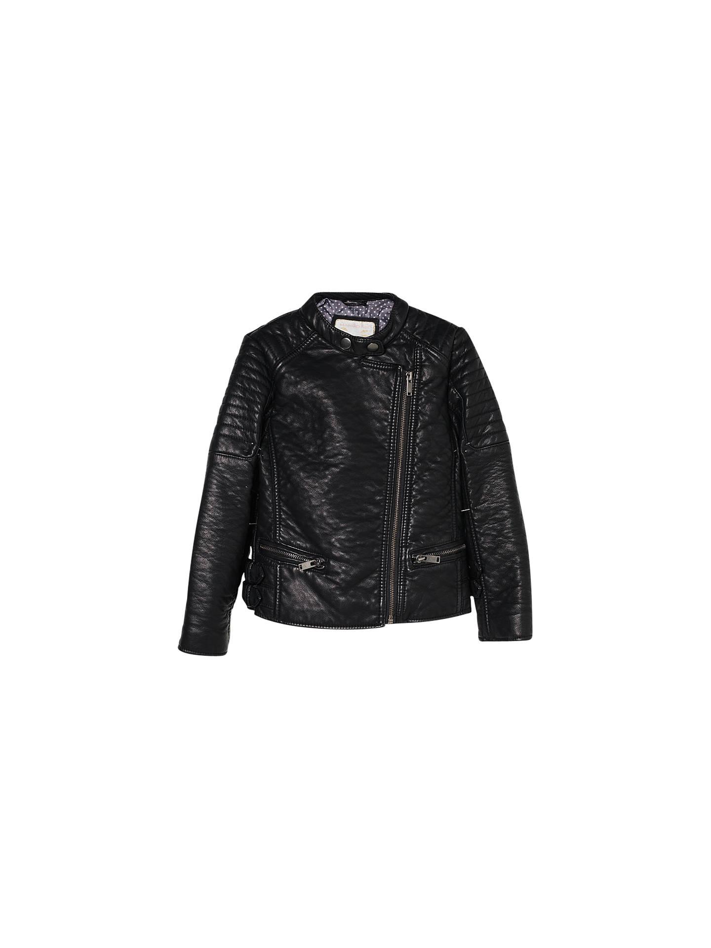 bc474a9c6 Mango Kids Girls  Faux Leather Biker Jacket at John Lewis   Partners