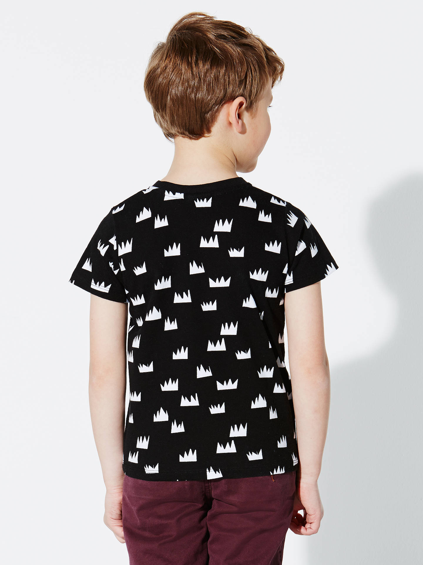 Buy Donna Wilson for John Lewis Crown Print T-Shirt, Black, 1 year Online at johnlewis.com