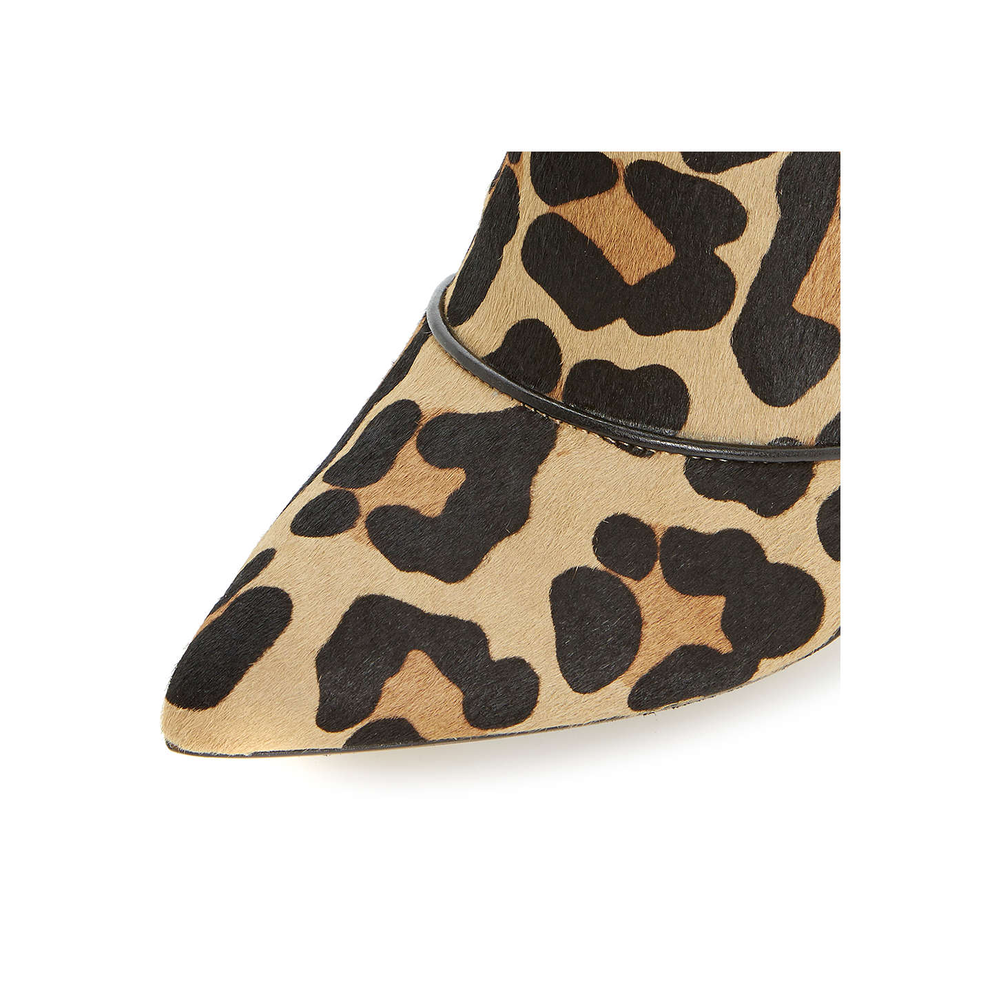 BuyDune Anna Stiletto Leather Shoes Boots, Leopard, 3 Online at johnlewis.com