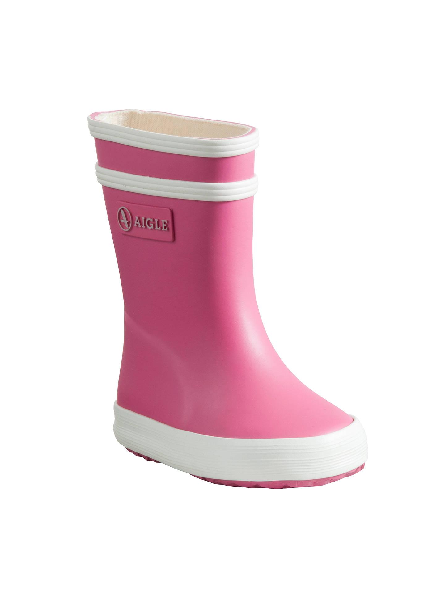 c0b05e8af1ab3 BuyAigle Baby Flac Wellington Boots, Rose, 19 Jnr Online at johnlewis.com  ...