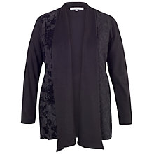 Buy Chesca Patchwork Jersey Shrug, Black Online at johnlewis.com