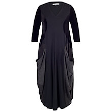 Buy Chesca Drape Pocket Dress, Black Online at johnlewis.com