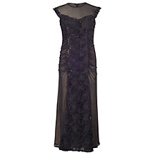Buy Chesca Floral Beaded Maxi Dress, Black Online at johnlewis.com