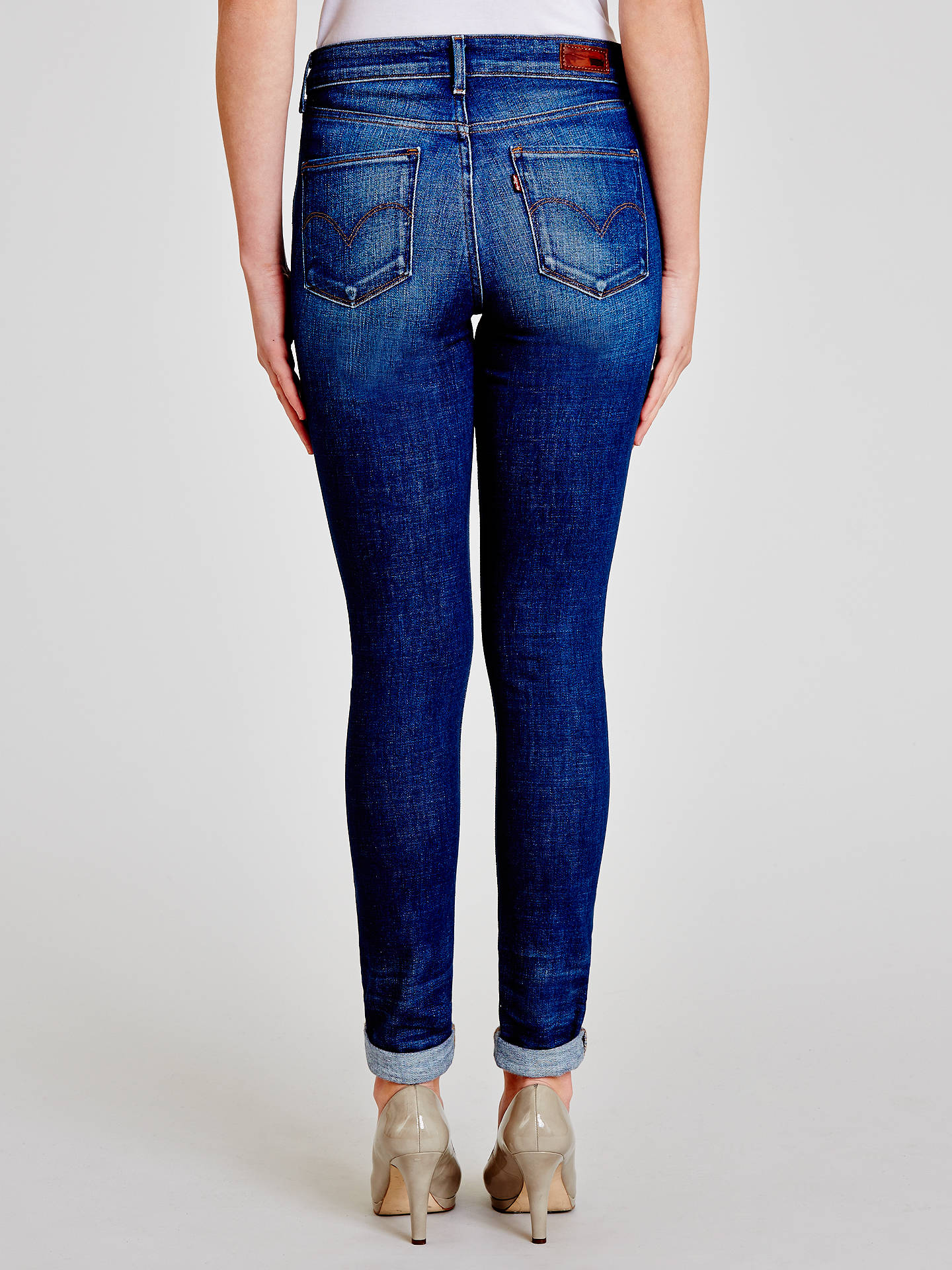 "Buy Levi's Hi-Rise Skinny Jeans 32"", Reservoir, W27/L32 Online at johnlewis.com"