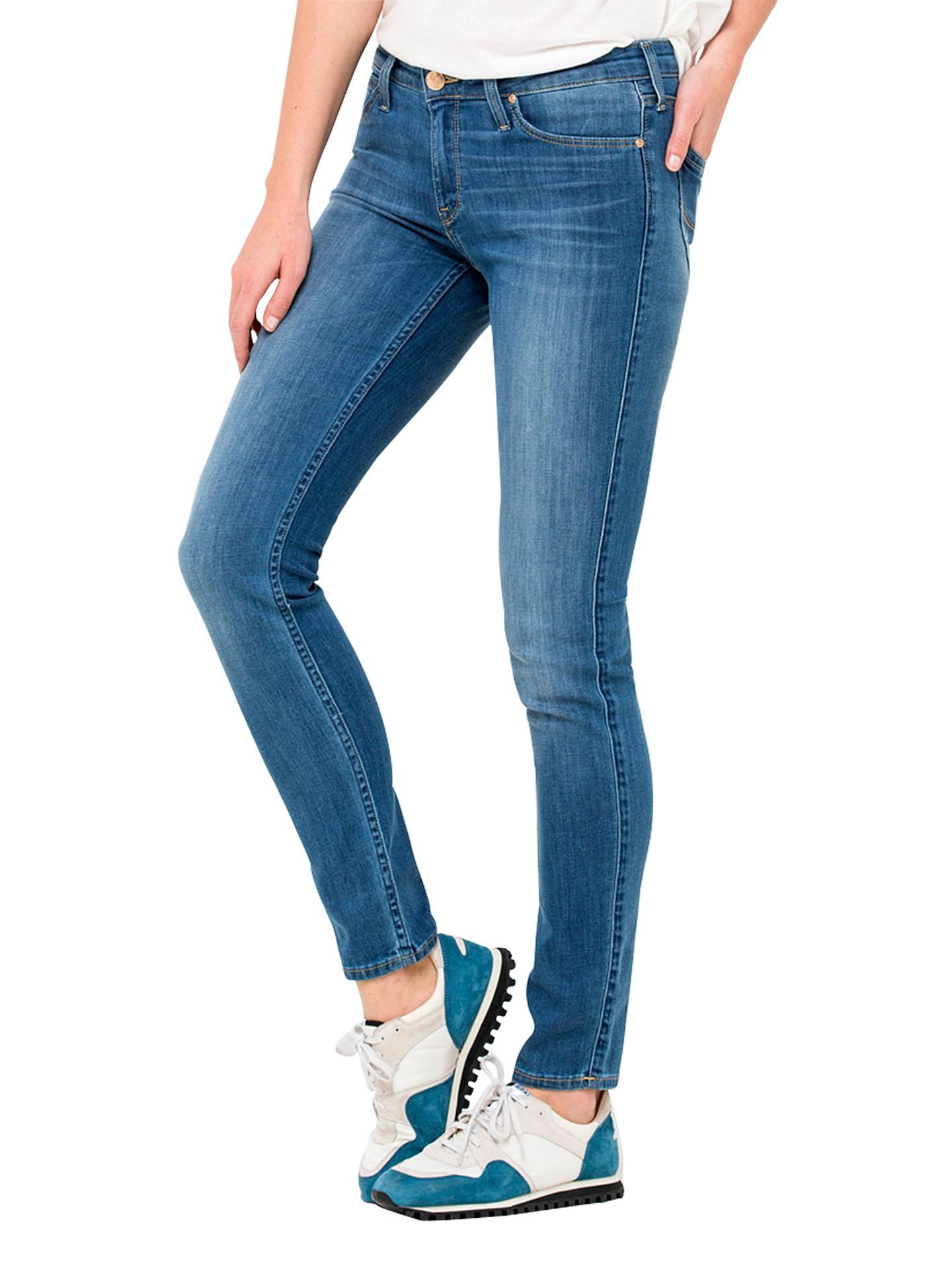 speciális cipő eladó üzlet vonzó ár Lee Scarlett Regular Waist Skinny Jeans, Blue Stone at John Lewis ...
