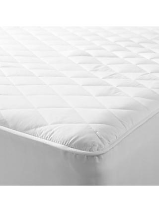 John Lewis & Partners Specialist Synthetic Waterproof Quilted Mattress Protector
