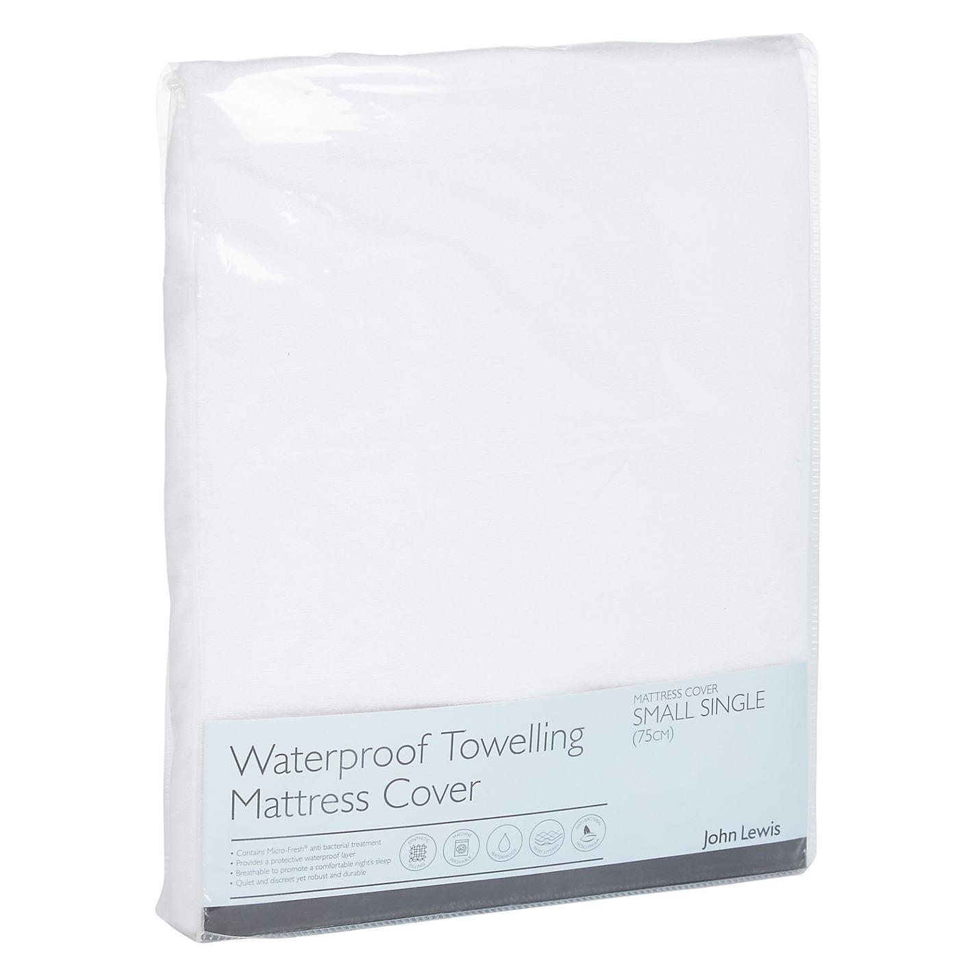 John Lewis Micro Fresh Waterproof Towelling Mattress Protector Online At Johnlewis
