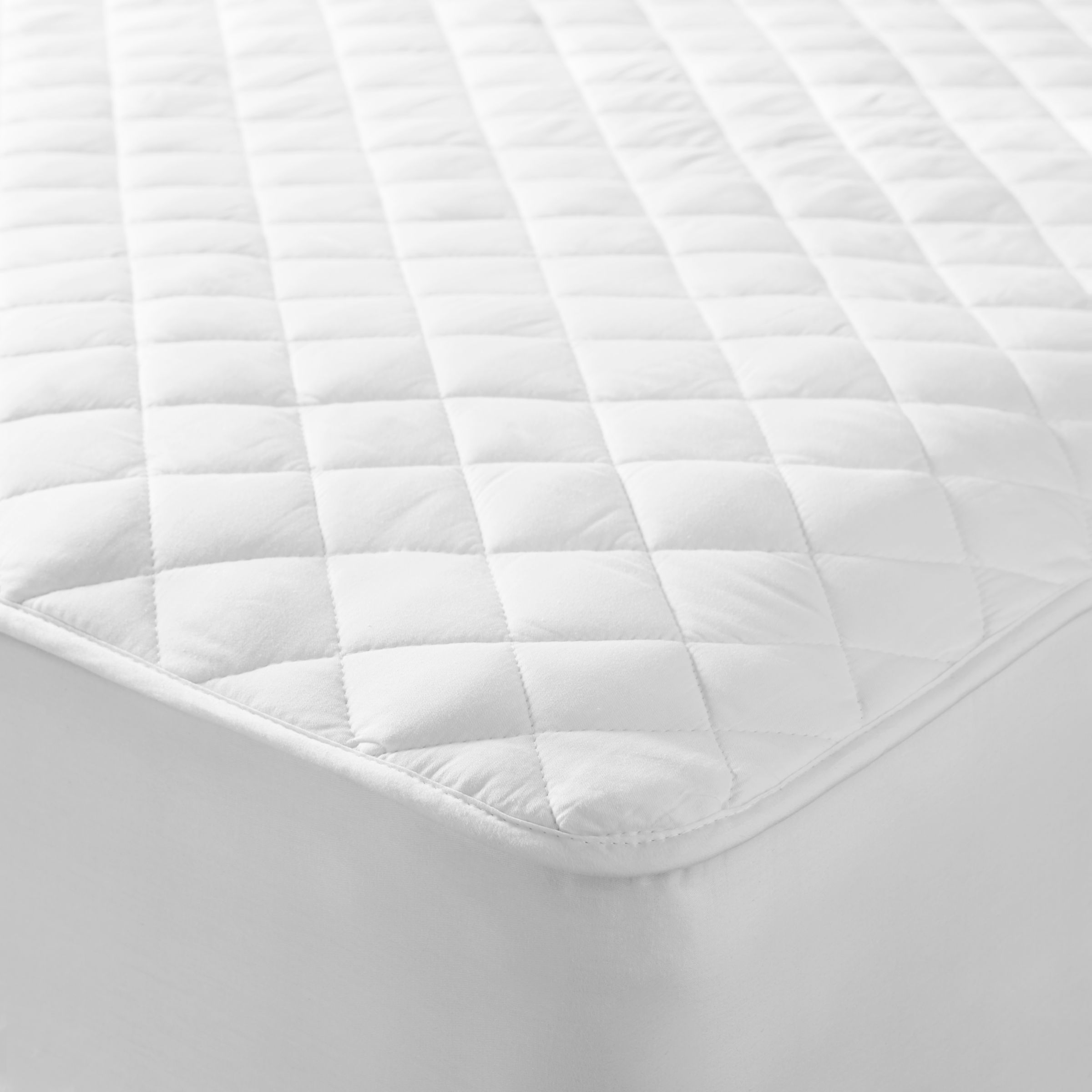 John Lewis & Partners Natural Cotton Quilted Mattress Protector