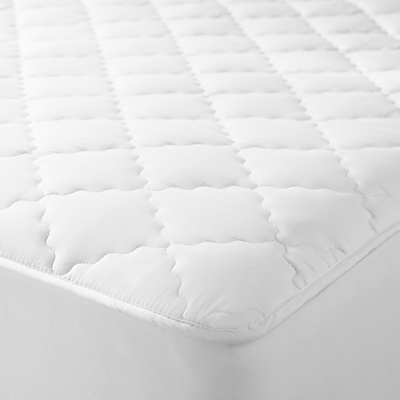 John Lewis Natural Collection Pure Cotton Quilted Mattress Enhancer
