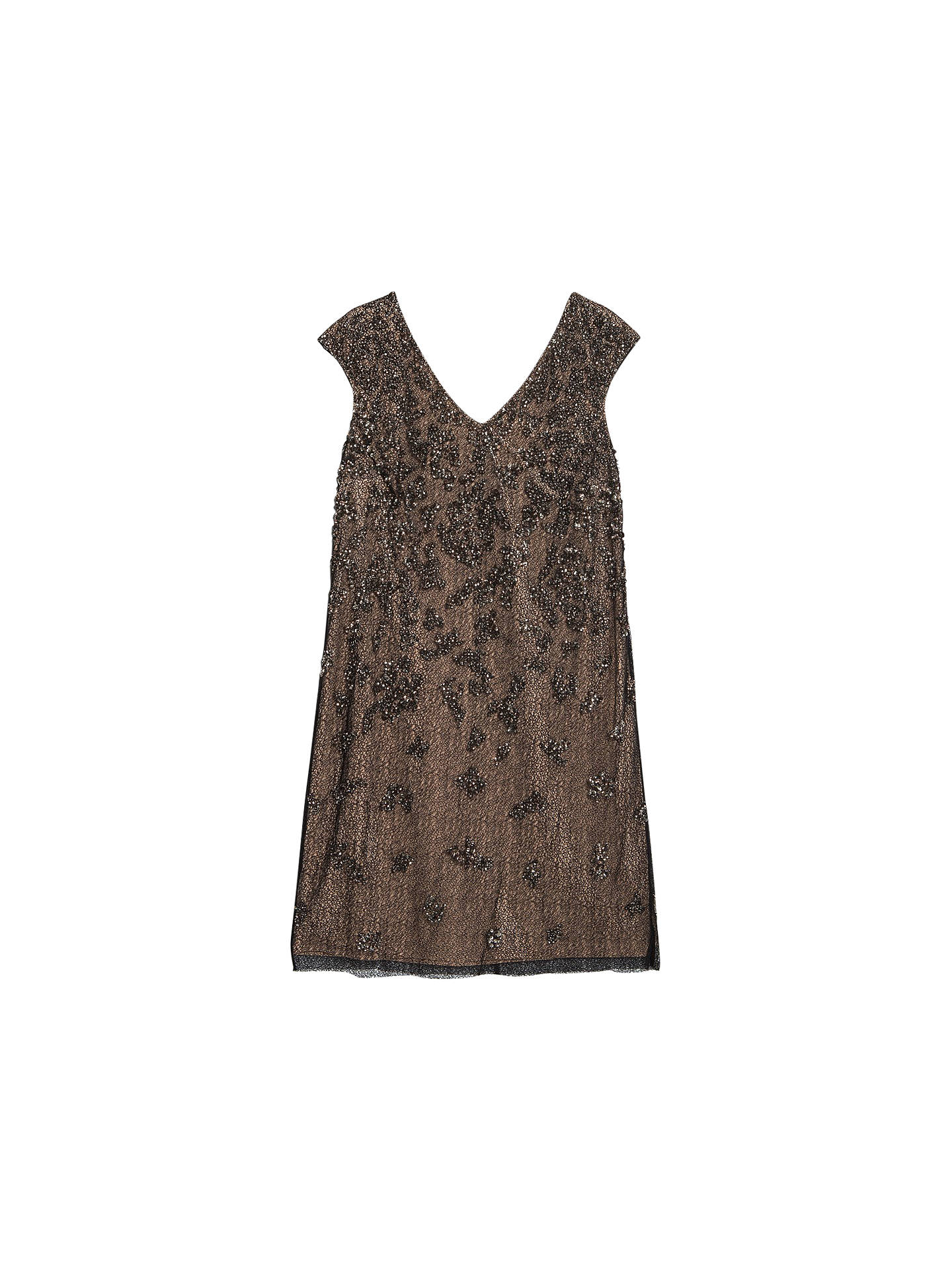 b7eff521d3748 BuyVioleta by Mango Sequin Embroidered Dress, Rust Copper, 14 Online at  johnlewis.com ...