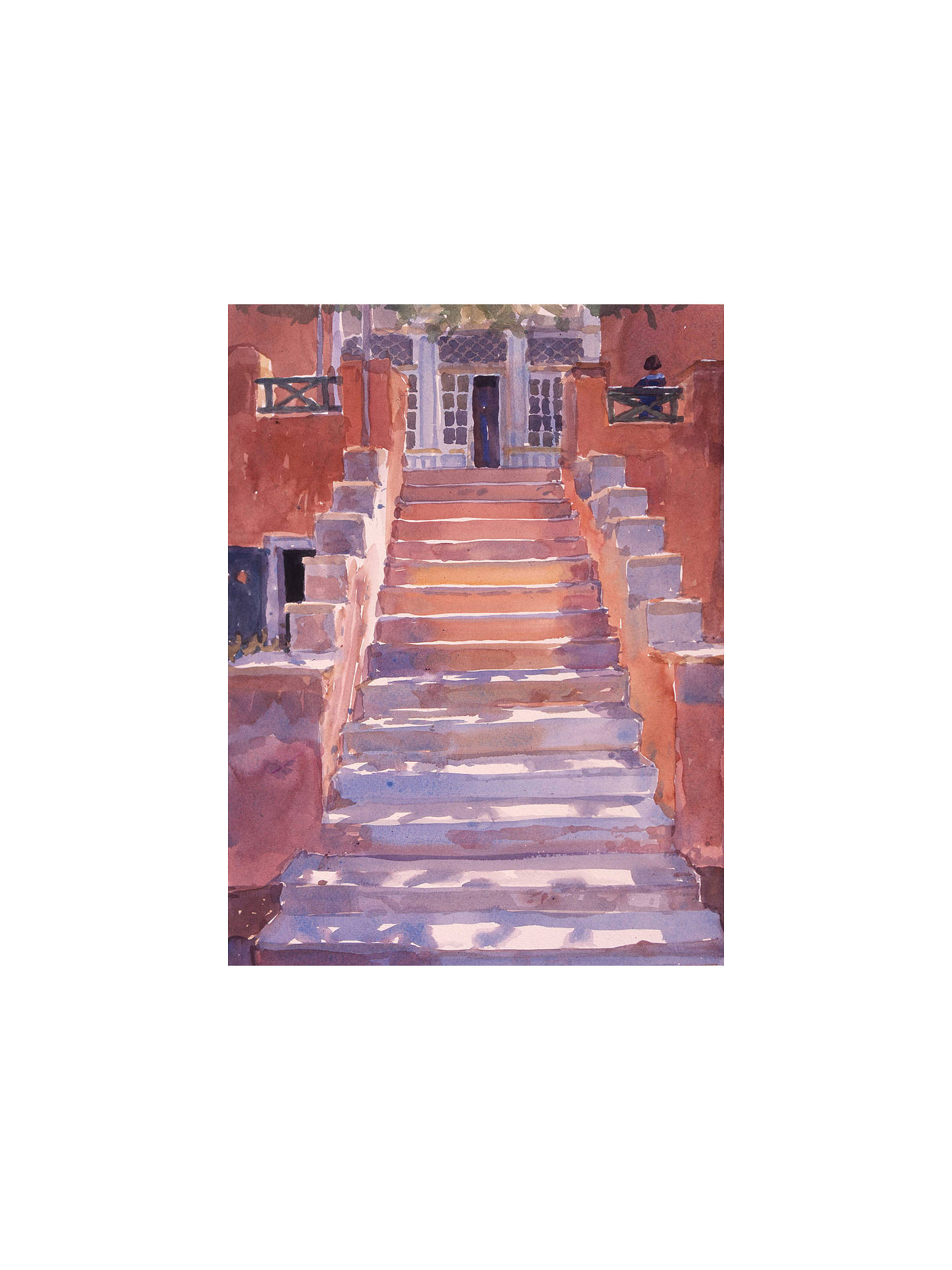 BuyLucy Willis - Syros Steps, Stretched Canvas, 80 x 60cm Online at johnlewis.com