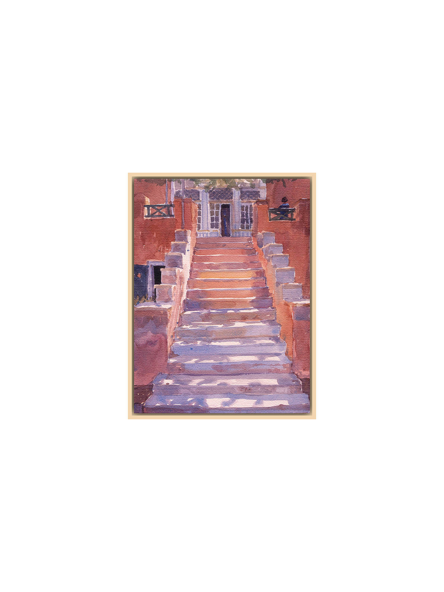 BuyLucy Willis - Syros Steps, Natural Ash Framed Print, 50 x 40cm Online at johnlewis.com