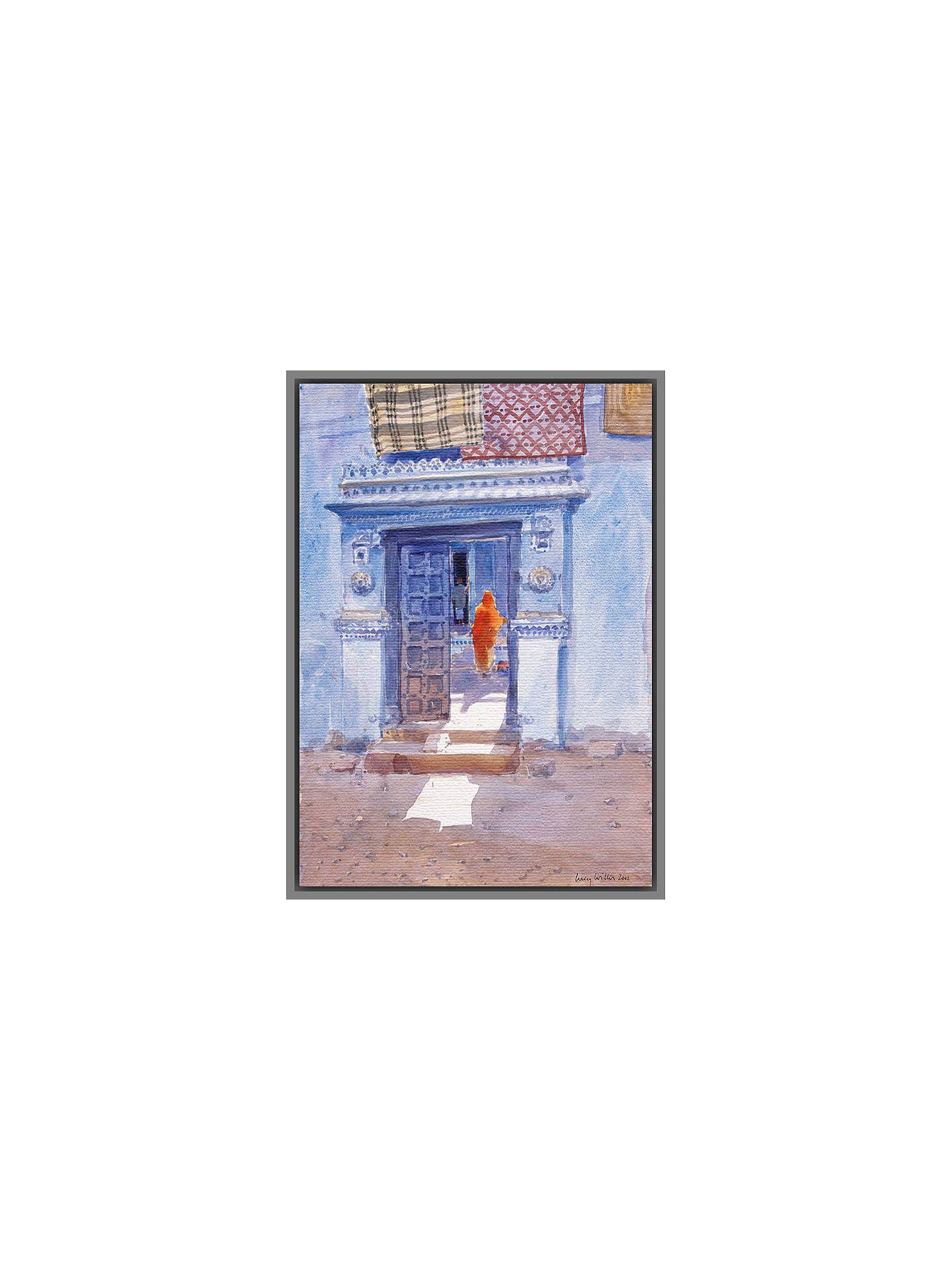 BuyLucy Willis - Remembering Bhuj, Grey Framed Canvas, 50 x 40cm Online at johnlewis.com