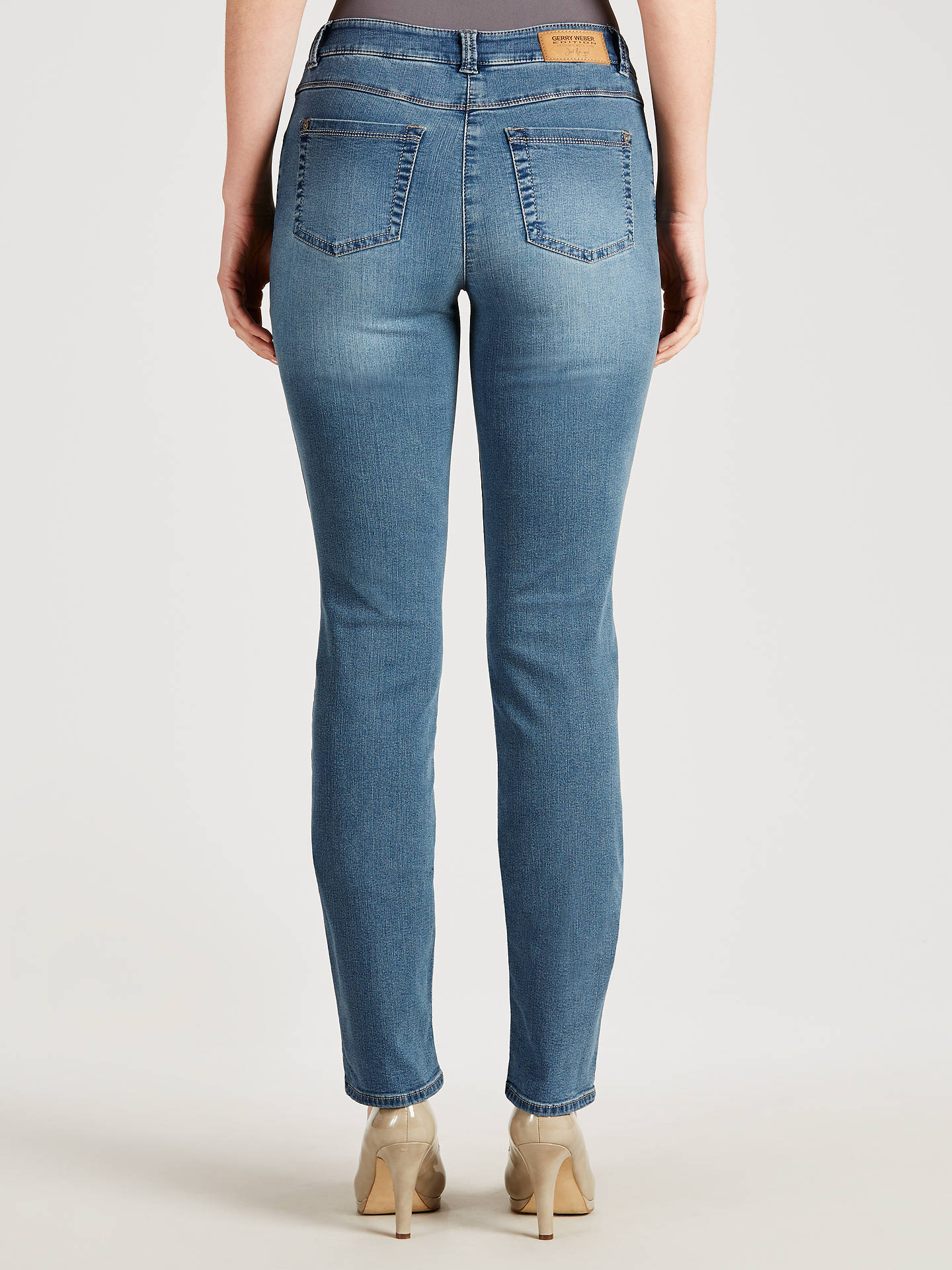 buy popular bfdda 75fc6 Gerry Weber Roxy Perfect Fit Jeans, Blue Wash at John Lewis ...