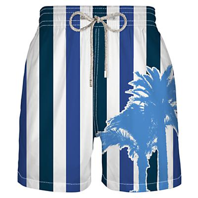 Vilebrequin Mahina Stripe Swim Shorts, Navy
