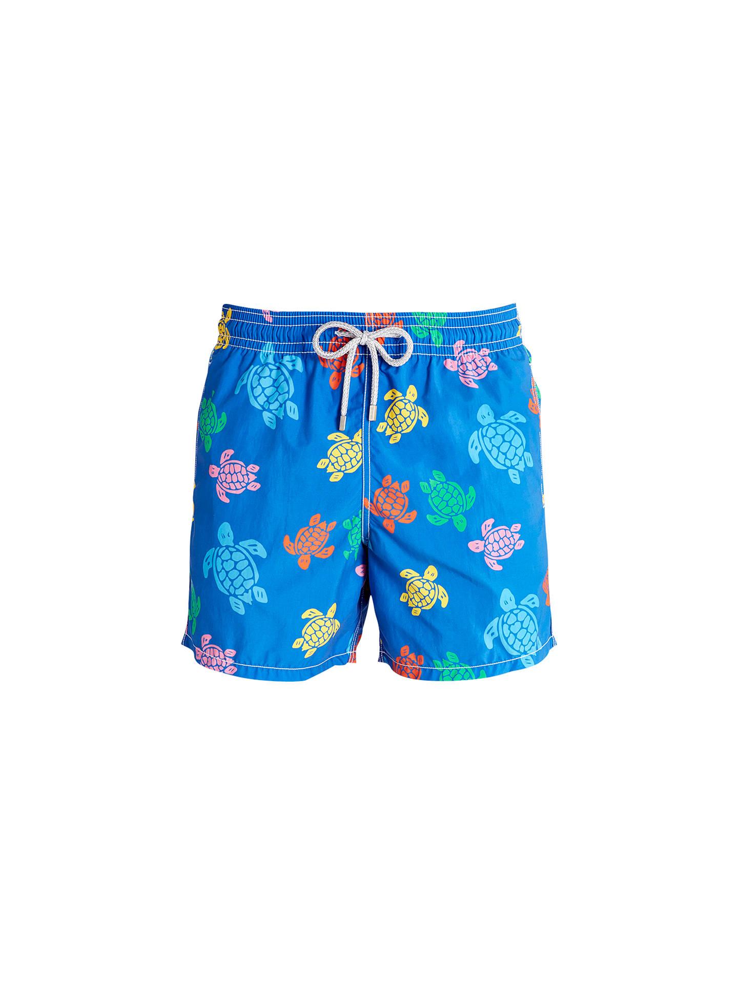 f3eaa4f40b Buy Vilebrequin Moorea Multi-Coloured Turtle Print Swim Shorts, Blue, S  Online at