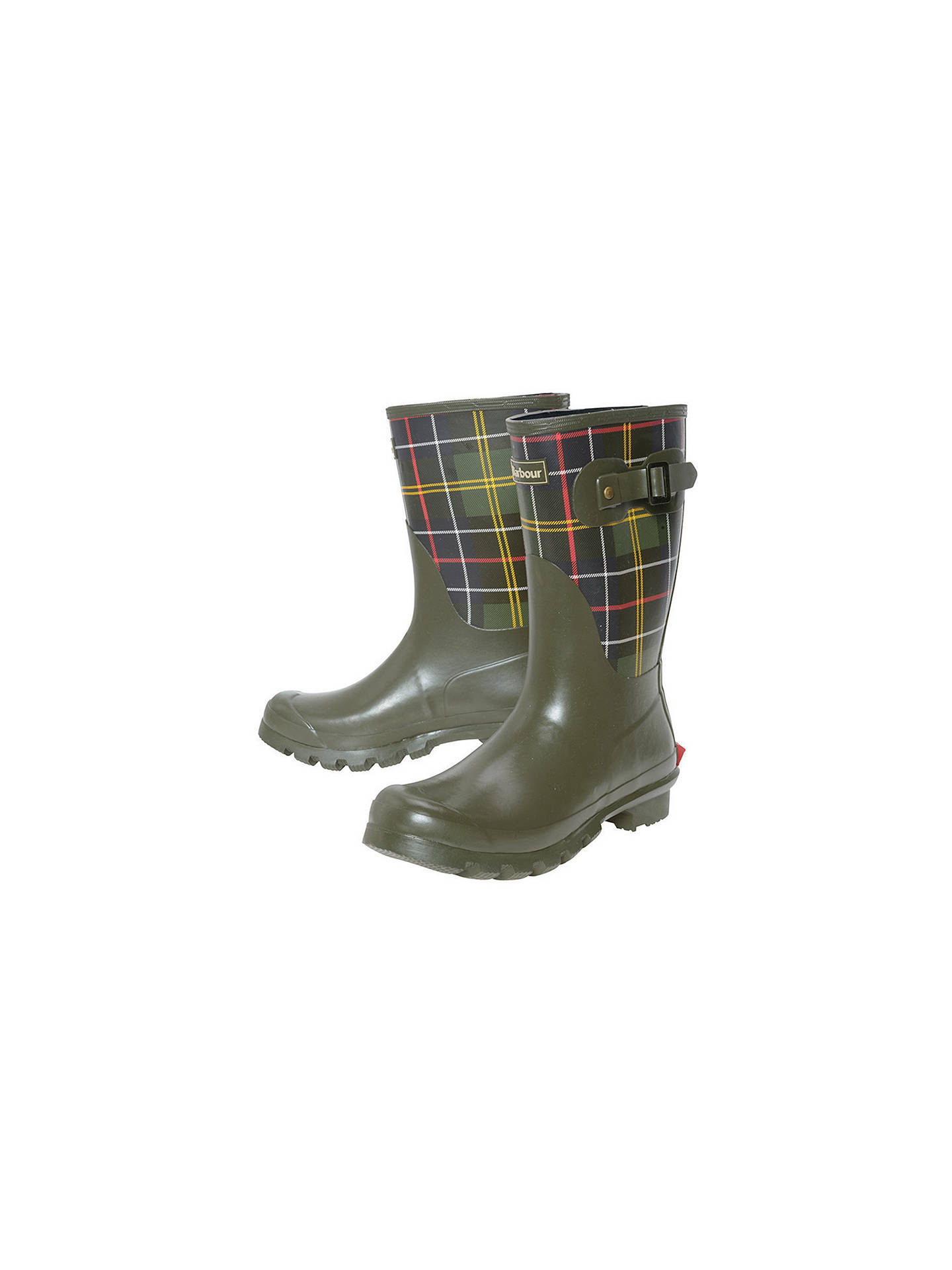 74fe0b3f6 Barbour Short Classic Wellington Boot, Tartan at John Lewis & Partners