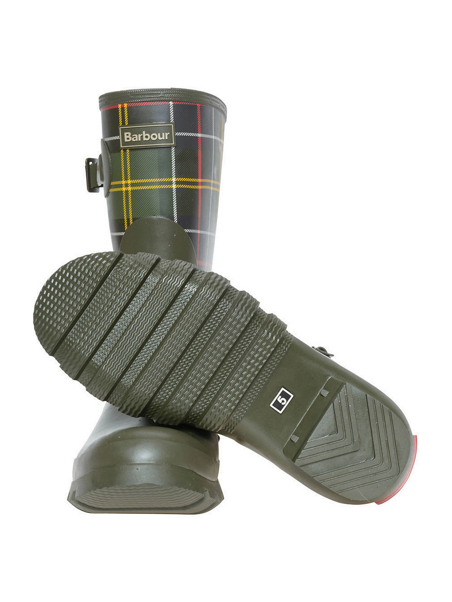 4dd963ddd ... Buy Barbour Short Classic Wellington Boot, Tartan, 5 Online at  johnlewis.com ...
