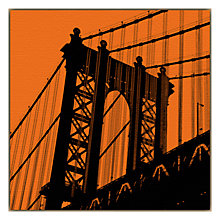 Buy Erin Clark - Orange Manhattan Bridge Online at johnlewis.com