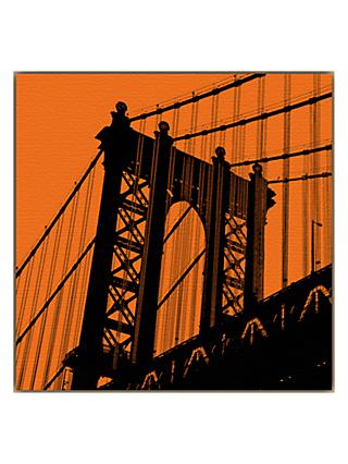 Erin Clark - Orange Manhattan Bridge
