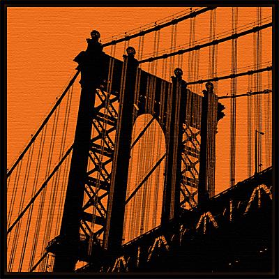 Erin Clark – Orange Manhattan Bridge