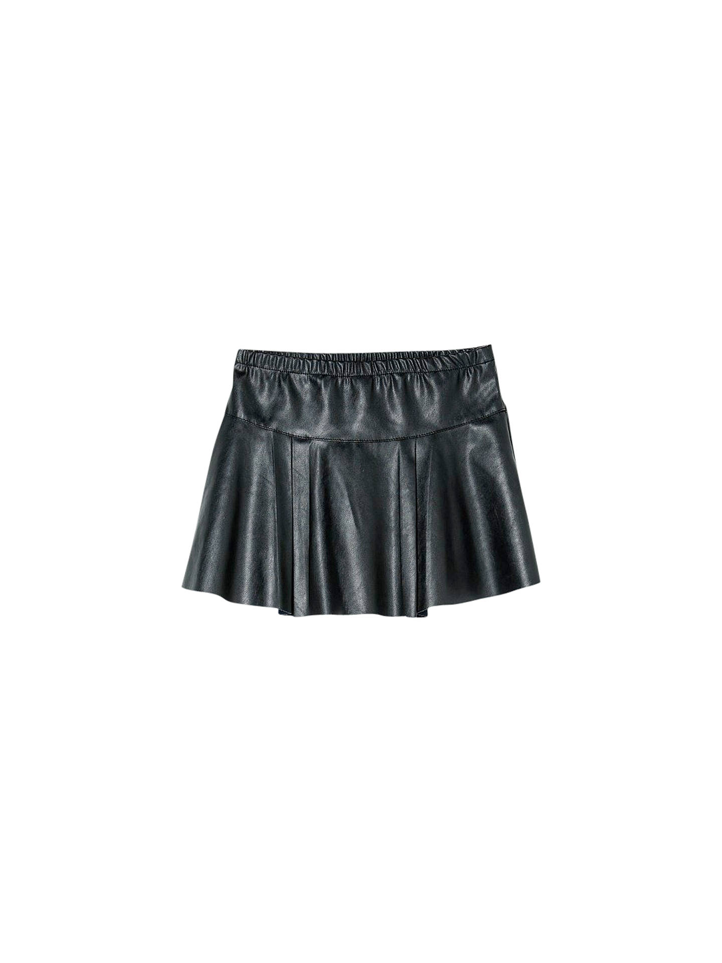 b1f097190b5 Buy Mango Kids Girls' Flaired Faux Leather Skirt, Black, Small Online at  johnlewis