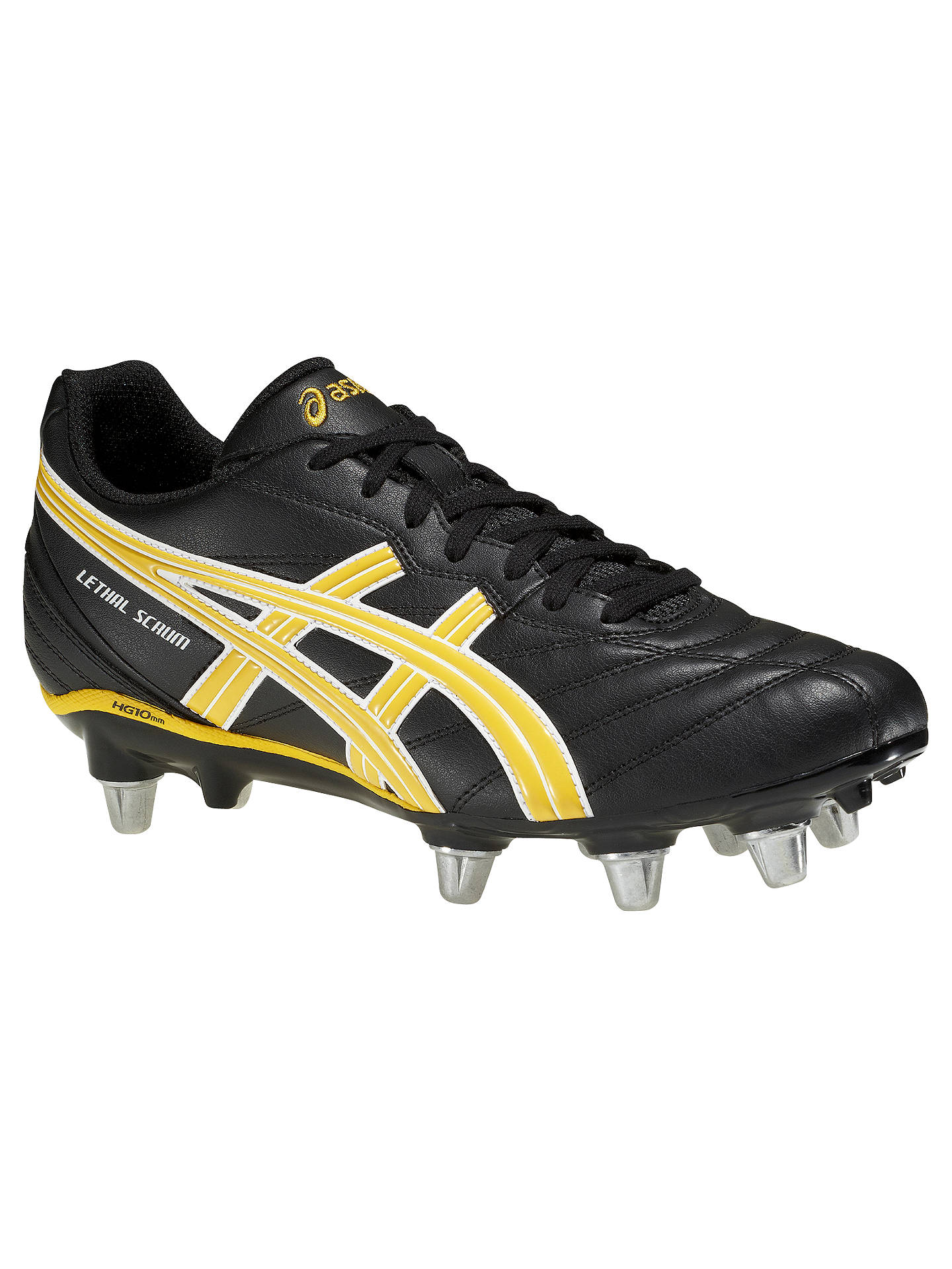 d311de15ad23fa Buy Asics Lethal Scrum Men's Rugby Boots, Black/Yellow, 9 Online at  johnlewis ...