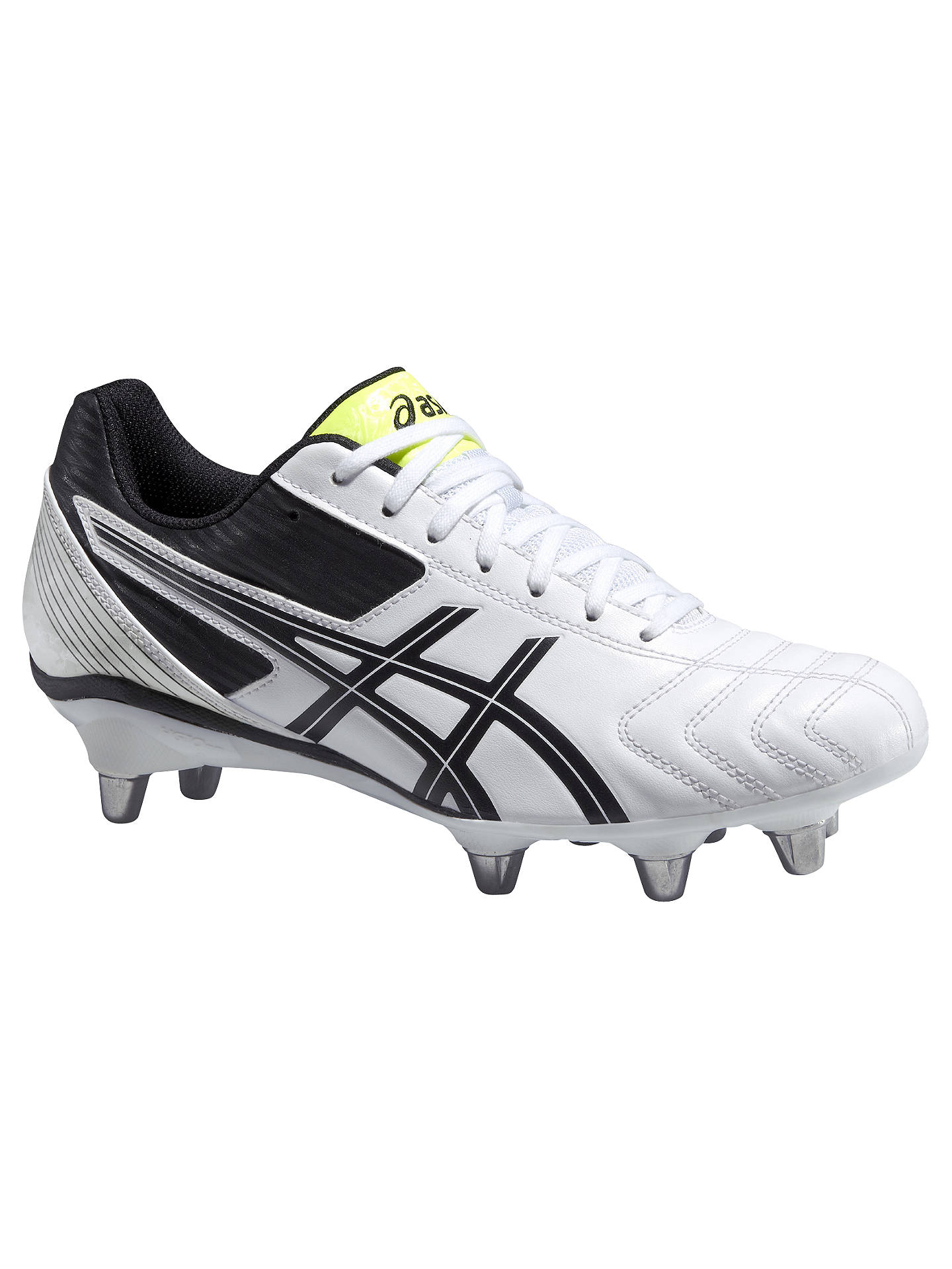 6a7db1580fb3ec Buy Asics Lethal Tackle Men's Rugby Boots, White/Black, 9 Online at  johnlewis ...