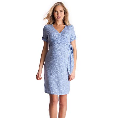 Séraphine Renata Polka Dot Short Sleeved Dress, Blue/White