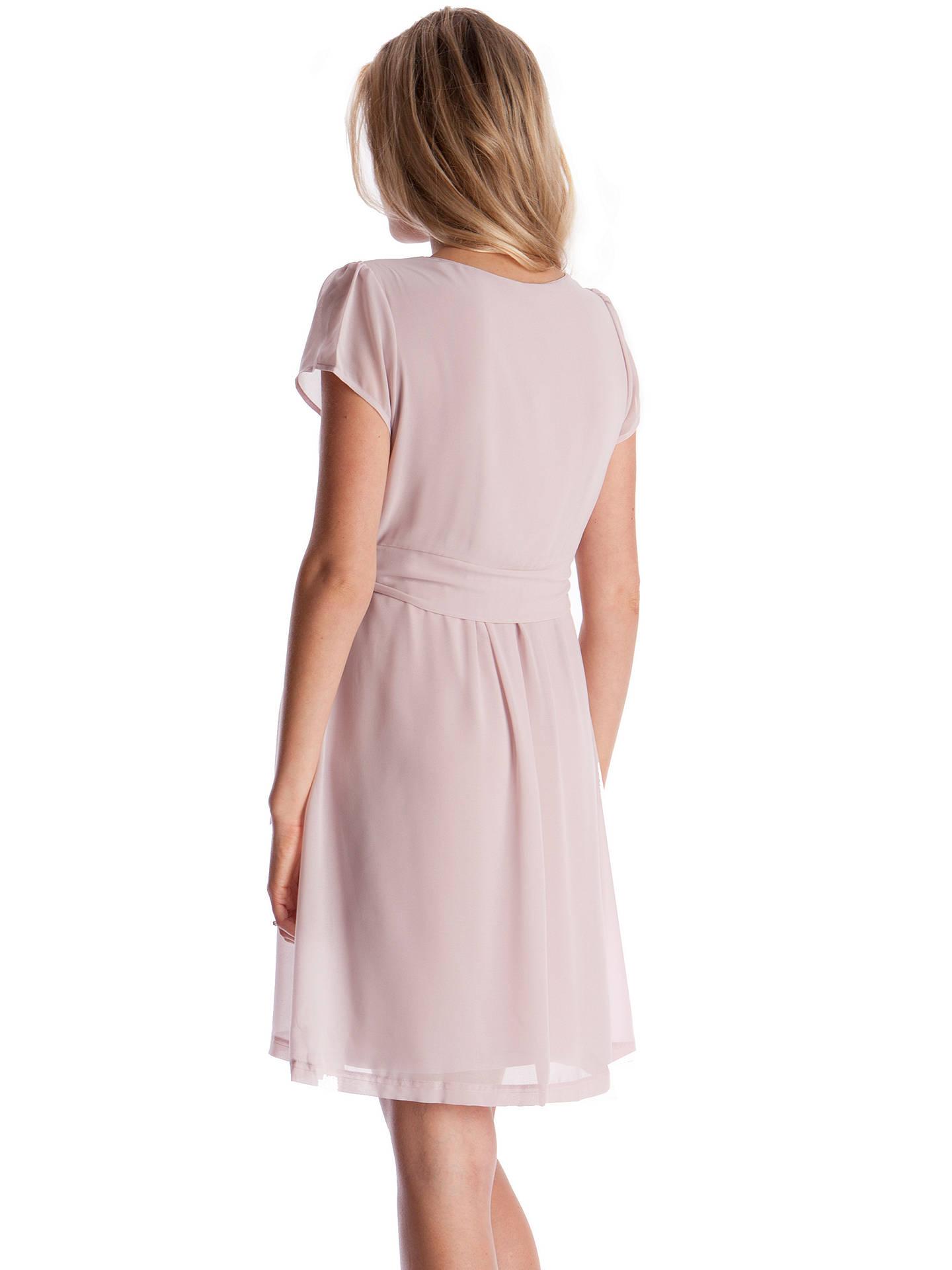 fcbf14589d0b4 ... Buy Séraphine Jodie Short Sleeve Maternity/Nursing Dress, Blush, 8  Online at johnlewis