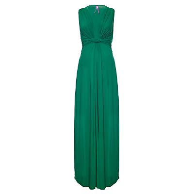 Séraphine Knot Front Maxi Maternity Dress, Emerald